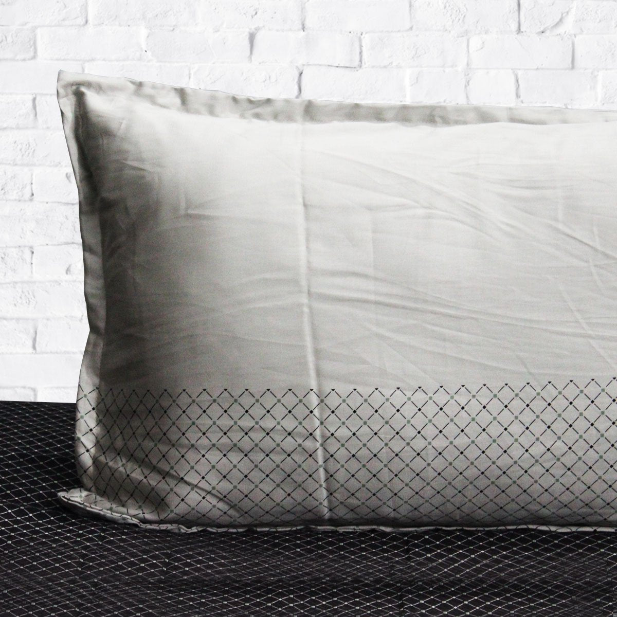 Gray & Black - Cotton Satin Bed Sheet With 2 Pillow cases - waseeh.com