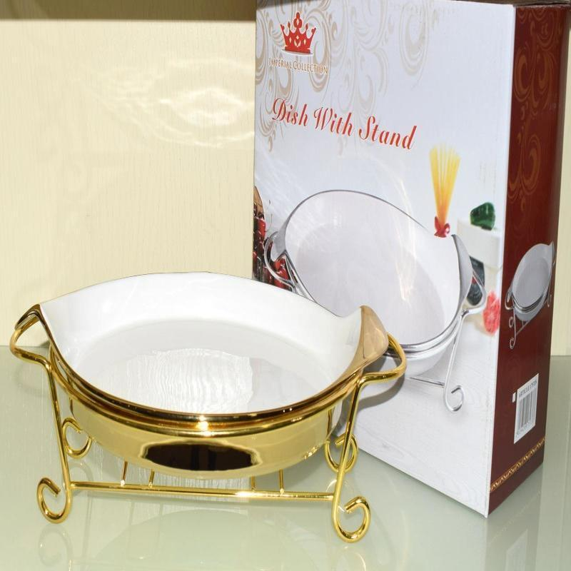 Luxurious & Elegant Radiant Heated Dish with Stand - waseeh.com