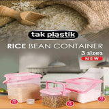 Transparent Hard Core plastic Rice and Beans Container