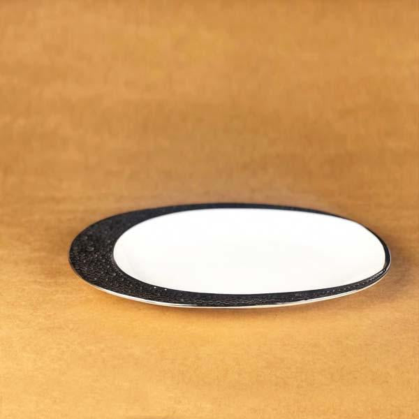 Crescent serving ceramic plate - waseeh.com