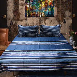 Strip - Cotton Satin Bed Sheet With 2 Pillow cases - waseeh.com