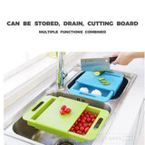 3In1 Kitchen Multi-Function Drain Storage Shelf Cutting Board durable Shrinkable storage home kitchen cutting board tool#guahao - waseeh.com