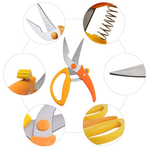 Kitchen Scissors for Chicken Fish Meat Seafood BBQ Foods Cutter Slicer Stainless Steel Chicken Scissors Kitchen Tools - waseeh.com