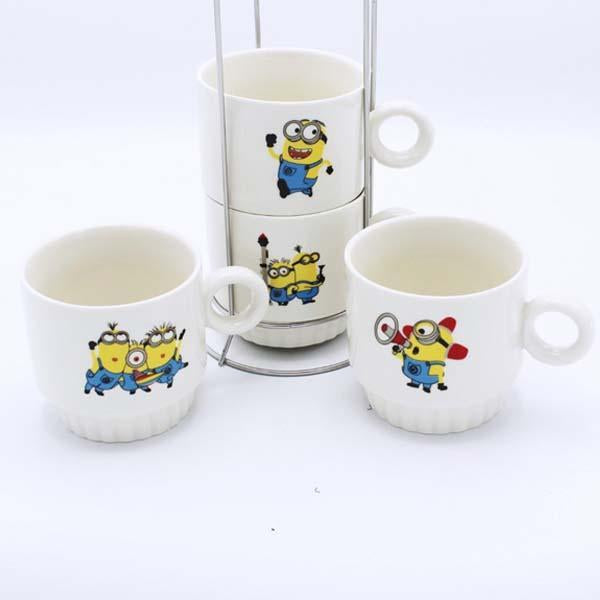 Minions Cup Tower - 4 Pcs - waseeh.com