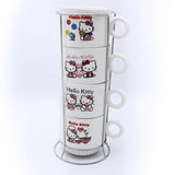 Hello Kitty Cup Tower - 4 Pcs - waseeh.com