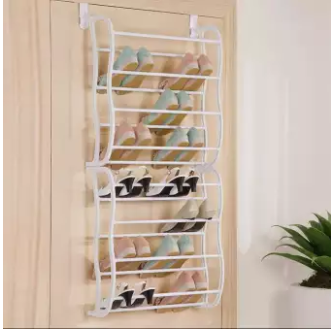Behind the Door Hanging 8 Layered 24 Pairs Shoe Rack - waseeh.com