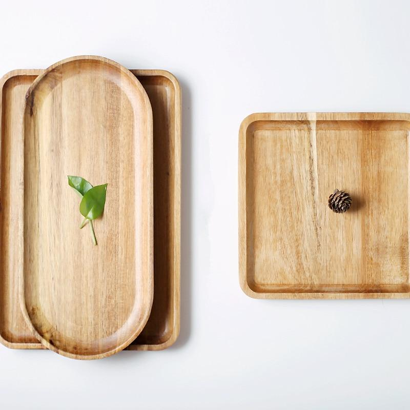 Wooden Food Party Serving Tray - waseeh.com
