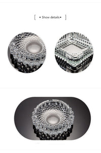Ashtray creative personality trend crystal glass European large home living room office KTV ashtray custom - waseeh.com