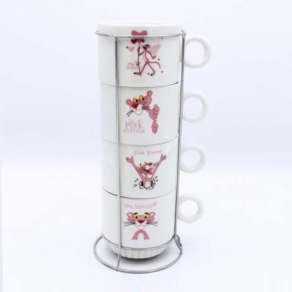 Pink panther Cup Tower - 4 Pcs - waseeh.com