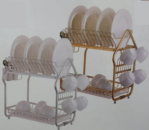 Draining Chrome Dish Rack (2 Tier)