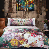 Multi Colored Floral Bed Spread Comforter Set - 6 Pieces - waseeh.com