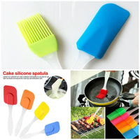 Silicone Oil Brush & Cake Spatula - 2 in 1 - waseeh.com