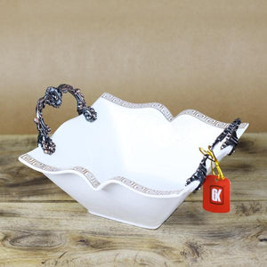 VERSACE Legendary Square Shaped Ceramic Bowl - waseeh.com