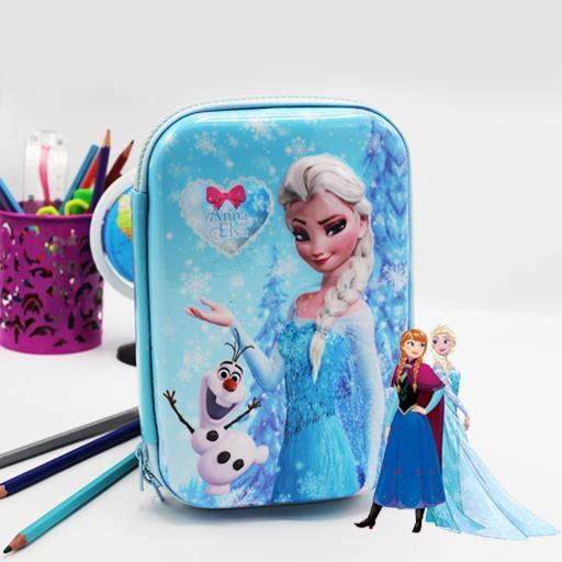Double zipper pencil case - Hard Case Frozen - waseeh.com