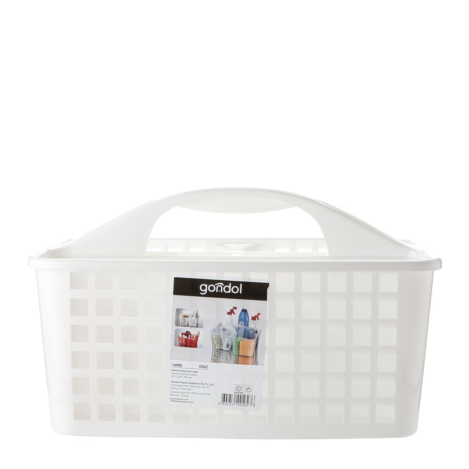 Gondol Plastic Basket with 3 Divisions Made in Turkey - waseeh.com