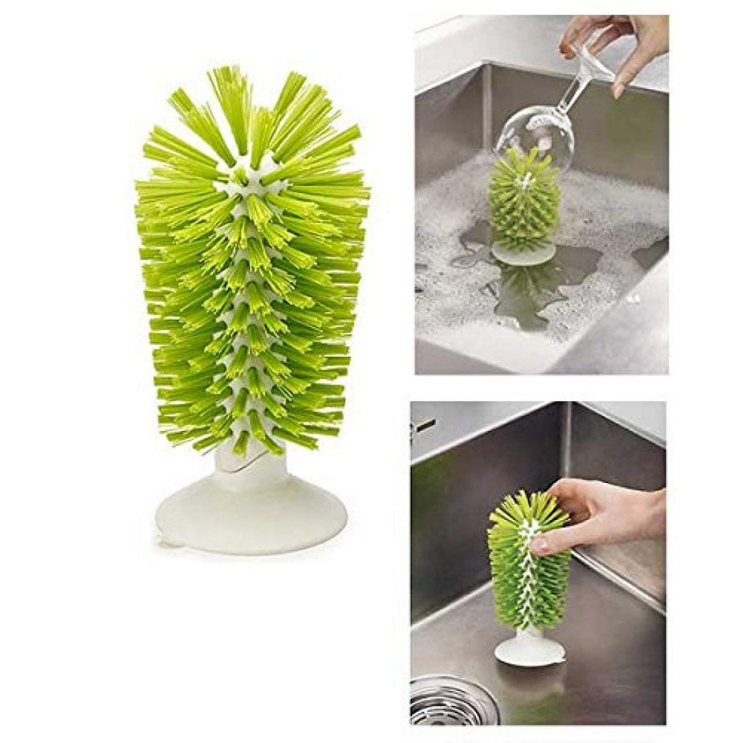 Brush-up in Sink Brush with Silicone Suction Cup Base - waseeh.com