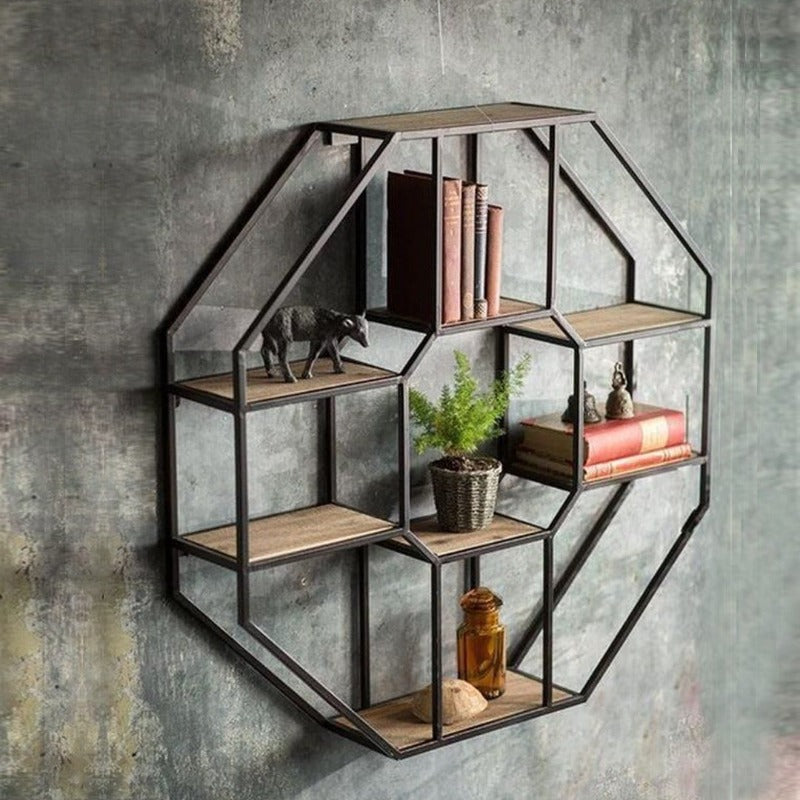 "Wall-Mounted ""Octic"" Metal Storage Frame"
