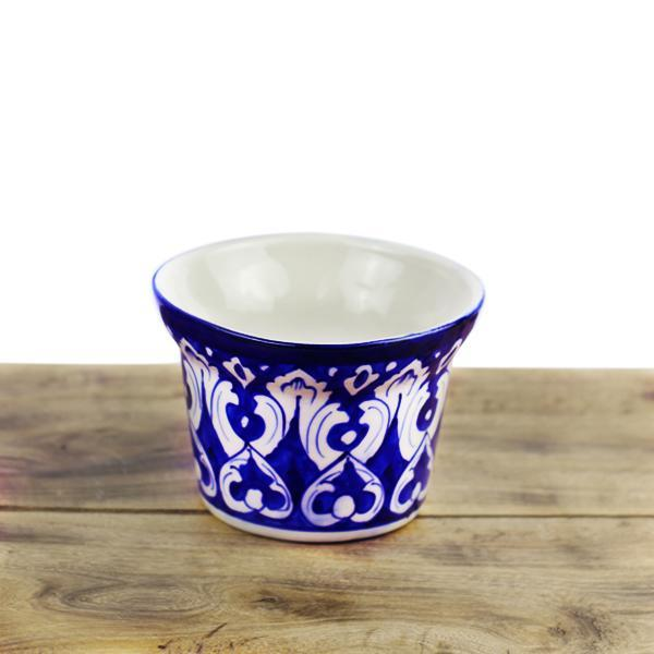 Tranquility planter-Blue pottery - waseeh.com