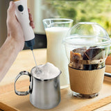 Electric Milk Frother Rechargeable Handheld Wand Coffee Mixer - waseeh.com