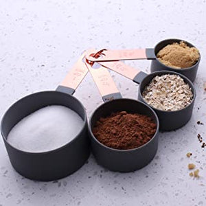 8 Pieces Measuring Cups And Spoon with Stainless Steel handle - waseeh.com