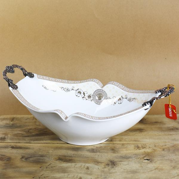 VERSACE Legendary Oval shaped Ceramic Bowl - waseeh.com