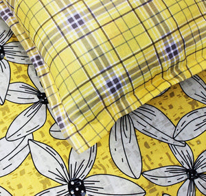 Yellow Tulip - Cotton Bed Sheet With 2 Pillow cases - waseeh.com