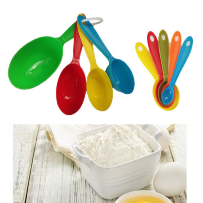 Multi-Colored Measuring Cups and Spoons (9 pcs) - waseeh.com