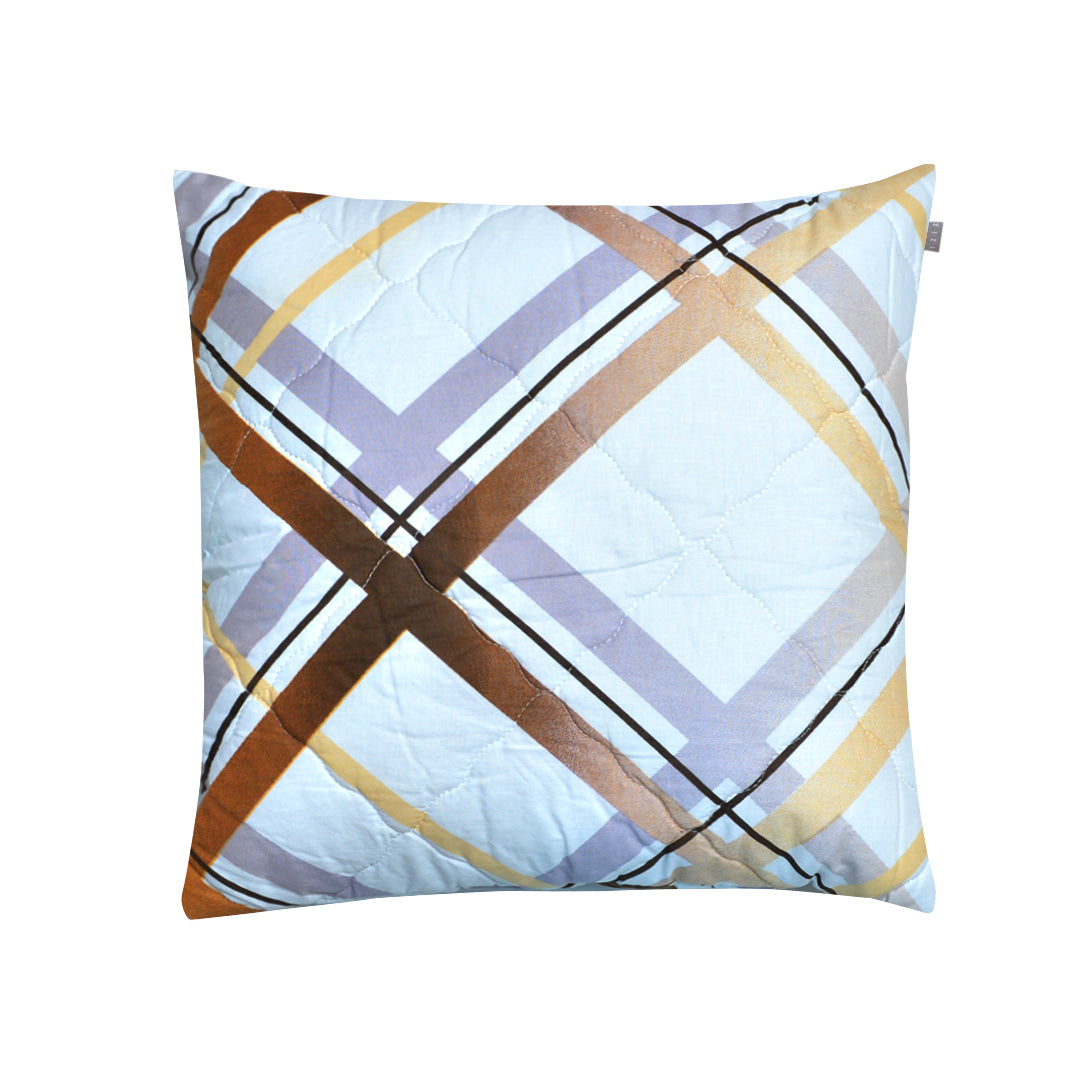 "The Stripped X"" Printed Filled Cushion - waseeh.com"