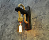Vintage Wall Mounted Lamp with Handmade Rope - waseeh.com