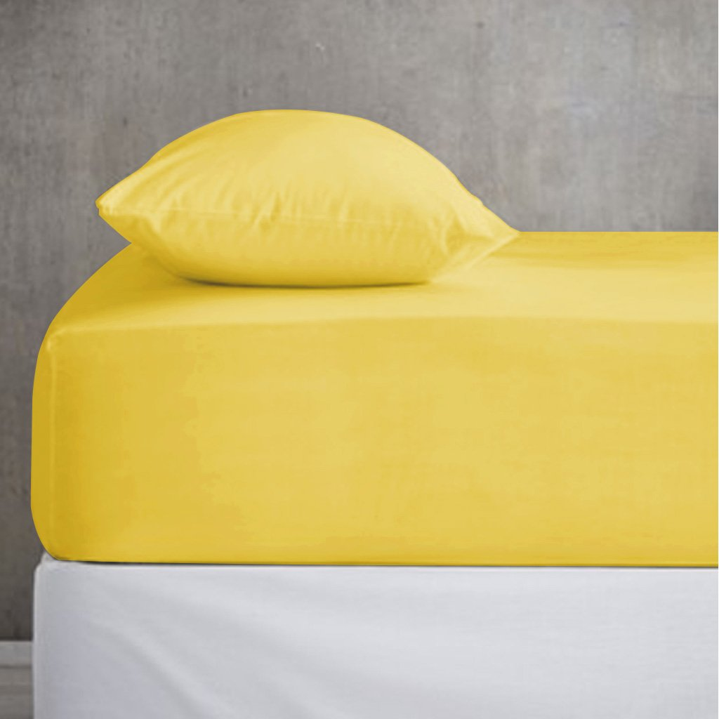 Flaxen Cotton Fitted Sheet (King Size) - waseeh.com