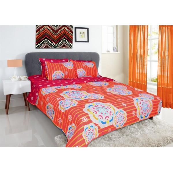 Geometrical Floral Bed Spread Set - 6 pieces - waseeh.com