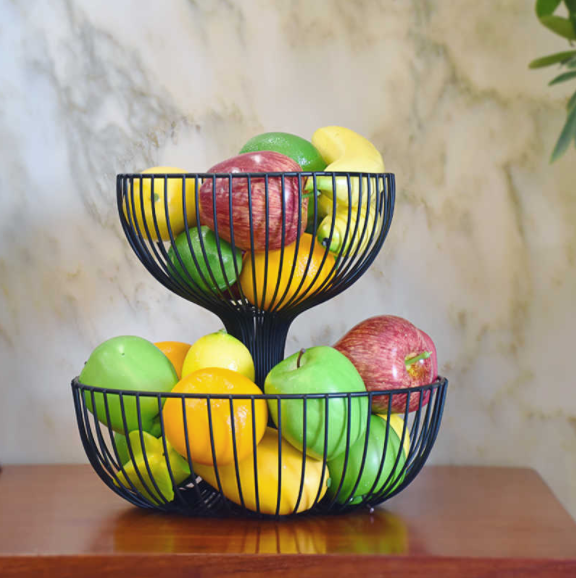 Signified Metal Fruit Table Storage Basket - waseeh.com