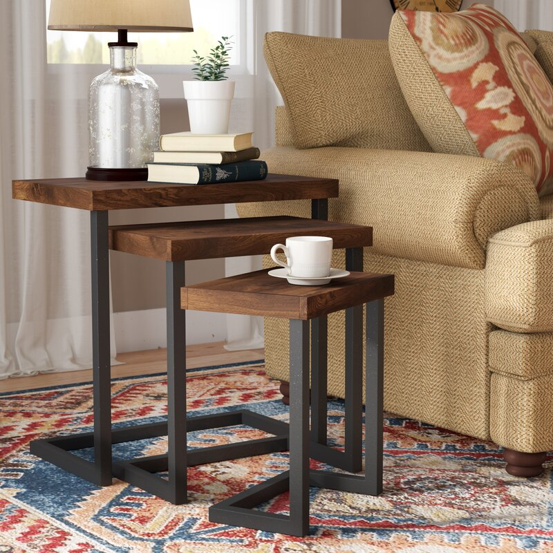 Centra Nesting Solid Wood Tables (3 Pcs) - waseeh.com