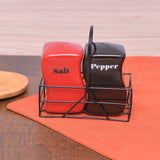 High Quality Ceramic Salt and Pepper Shaker Metal Stand - waseeh.com