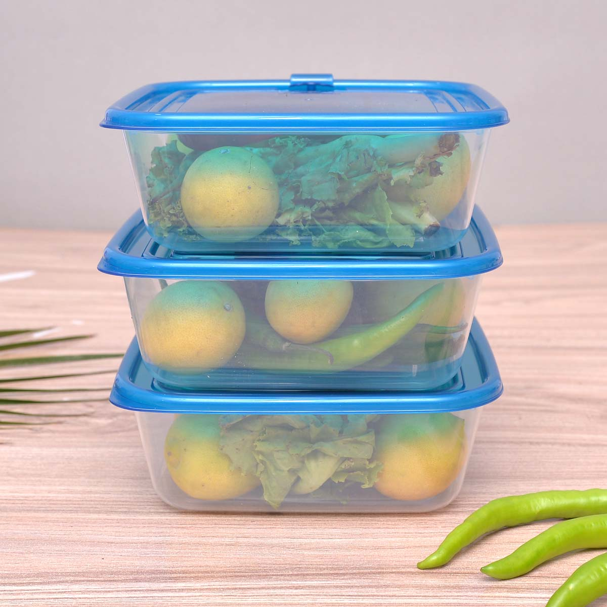 Air Vent Lid Microwave Plastic Food Container Set (3 pcs) - waseeh.com