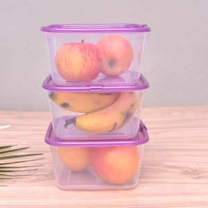 Air vent lid microwave plastic food container set Pack f 3 - waseeh.com