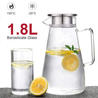 Sparkling Glass Pitcher - waseeh.com