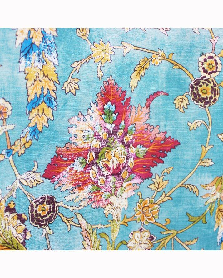 "Multi Floral Design - Single Panel With Linning - 50"" x 97"" - waseeh.com"