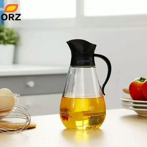 ORZ Oil Bottles Auto Flip Glass Can Leakproof Soy Sauce Vinegar Seasoning Bottle Oiler Against Dust Proof Kitchen Tools Oil Jars - waseeh.com