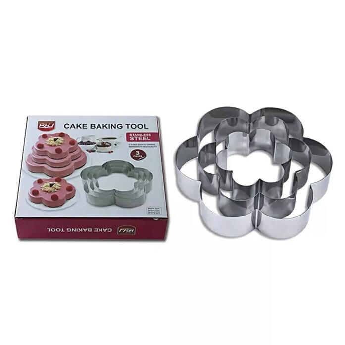 Stainless Steel Fondant Cake Baking Mold Round Heart Flower Star Shape Mould Cookie Biscuit Cutter Decorating Moulds - waseeh.com