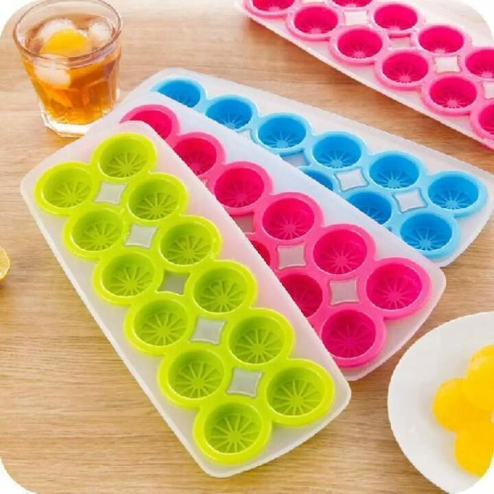 Silicon ice cube creative lemon shape ice mold candy 12 grides ice cube tray thick and soft botton - waseeh.com