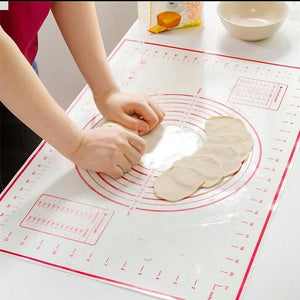 50*32CM Non-Stick Silicone Baking Mat Pad Baking Sheet Glass Fiber Rolling Dough Mat Cookie Macaron Baking Mat Pastry Tools 15 - waseeh.com