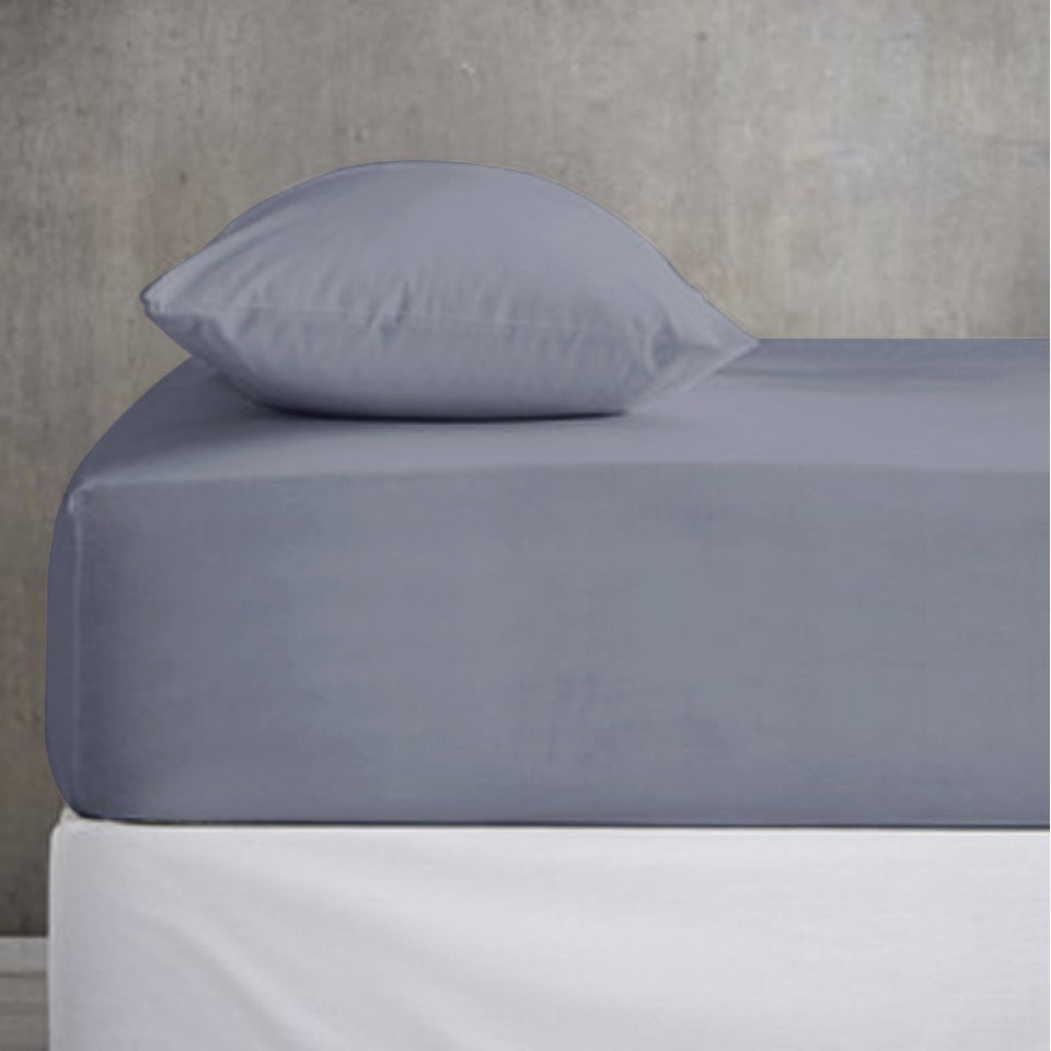 Cotton Fitted Sheet - With Pillow Covers - Double - waseeh.com