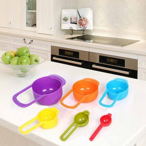 6pcs Rainbow Measuring Cups - waseeh.com