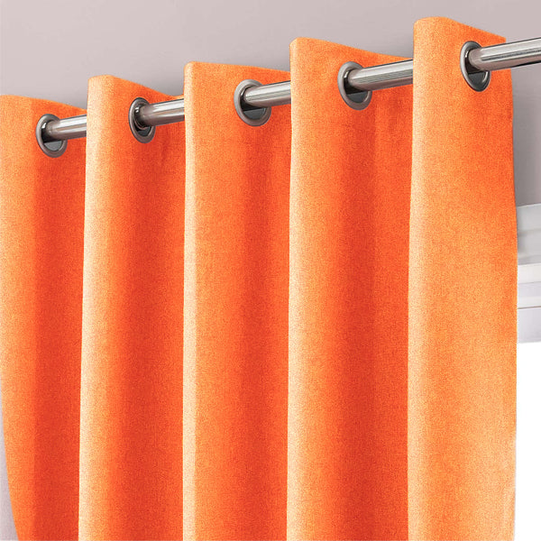 Lavish Tiger Orange Curtains (Lining)