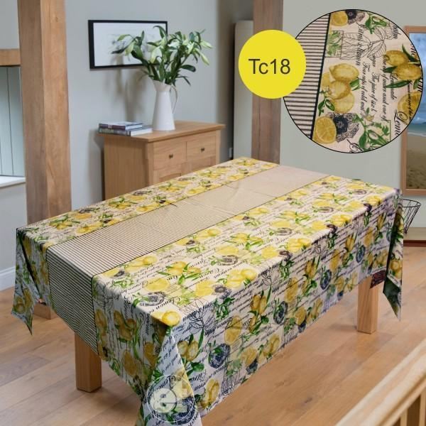 Table Cover Cotton Zeen - Lemons - waseeh.com