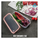 Transparent Strong Gripped Meat Container - waseeh.com