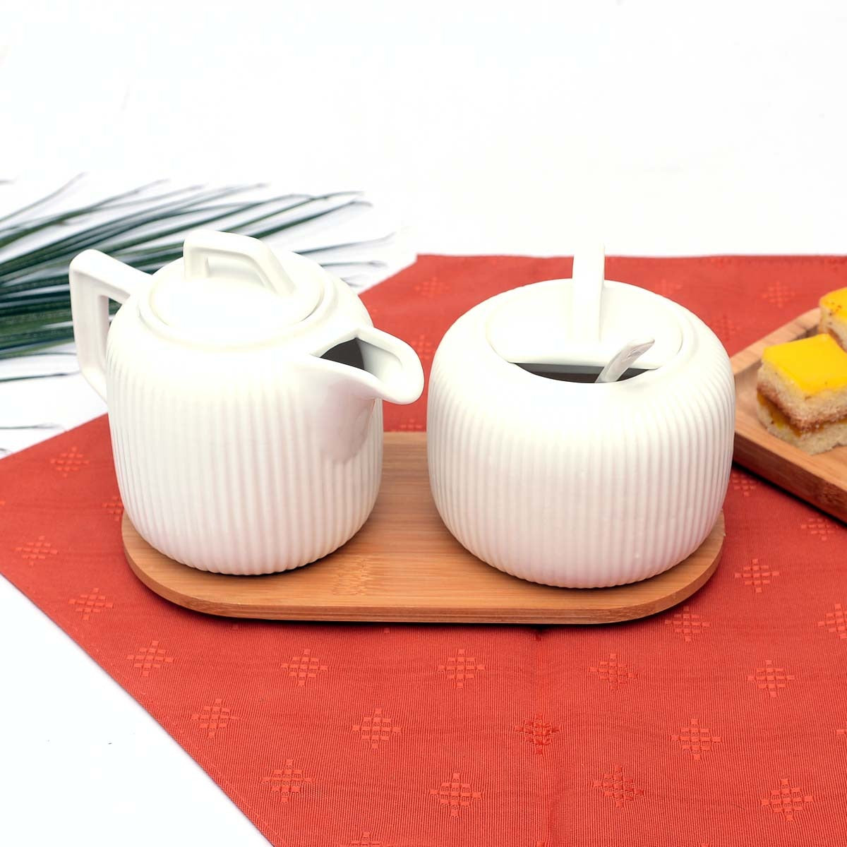 Milk and Sugar Ceramic Sugar Pot - waseeh.com