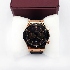 Hublot Watch for Men - Black Dial with Black Straps - waseeh.com