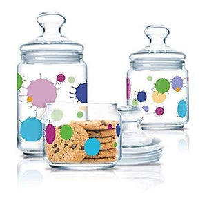 Luminarc Glass Jar With Lid - Set of 3 - waseeh.com